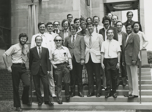 Group picture at the University of Chicago, Conference of Super Tornado Outbreak, July 10, 1974.