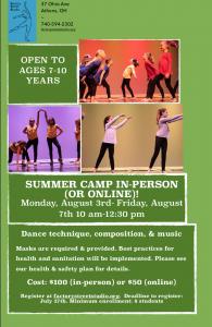 August Summer Dance Camp