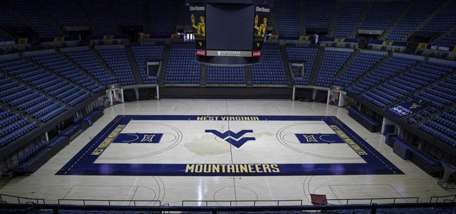 picture of an empty basketball arena