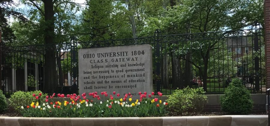 Ohio University's class gateway at College Green, photographed on May 2, 2019