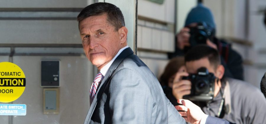 Former national security adviser Michael Flynn arrives at U.S. District Court in Washington, D.C., in 2018.