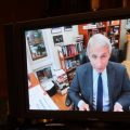 Dr. Anthony Fauci, director of the National Institute of Allergy and Infectious Diseases, speaks remotely Tuesday during a Senate Health, Education, Labor and Pensions Committee hearing on the coronavirus.