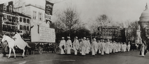 Suffrage Parade in Washington, D.C. March 1913.