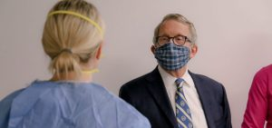 Mike DeWine wearing mask