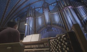 Alcee Chriss III practices the organ at Notre Dame.