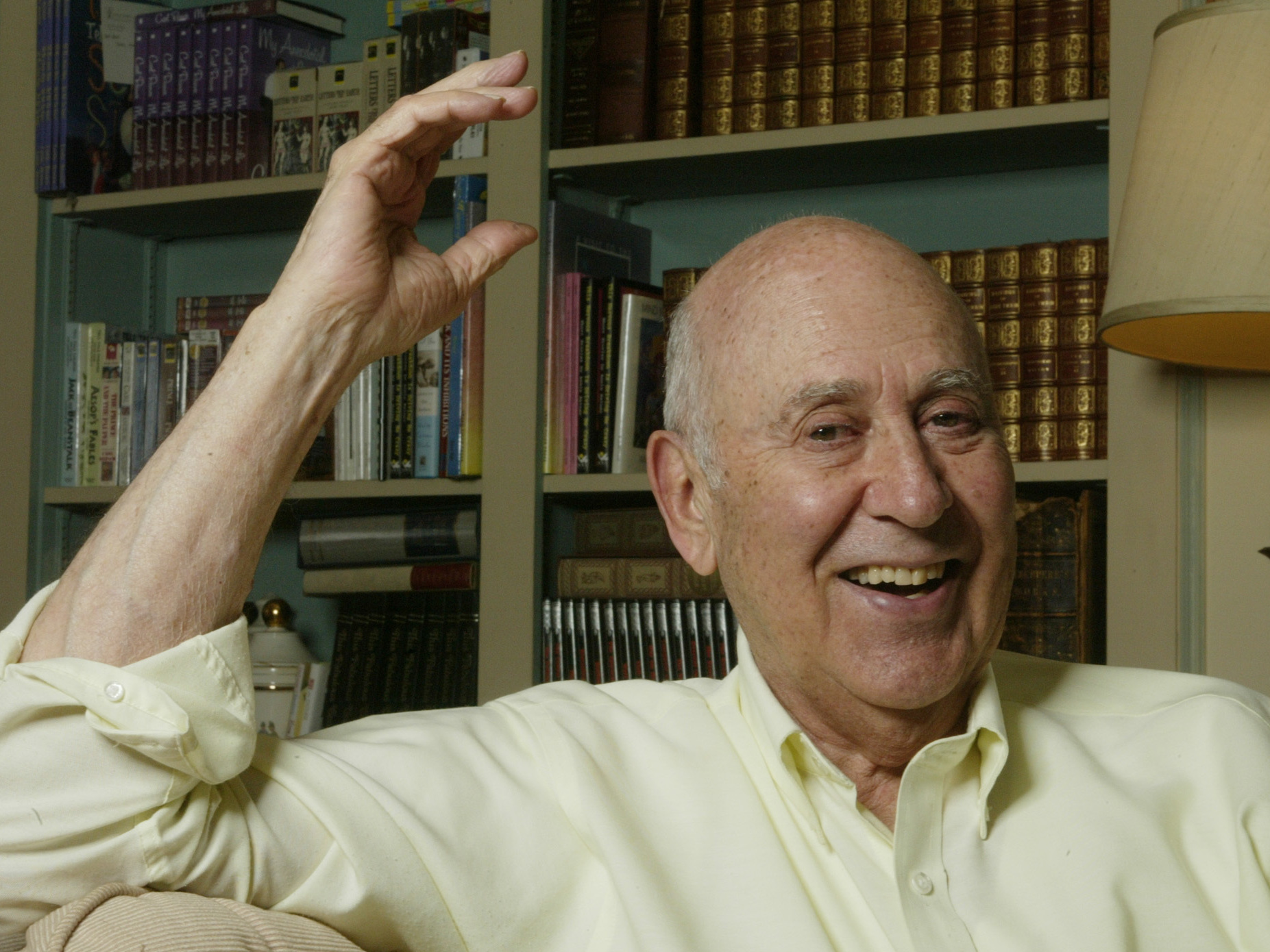 Actor, director and author Carl Reiner, pictured at his home in Beverly Hills, Calif., in May 2003.