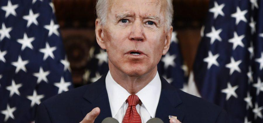 Former Vice President Joe Biden speaks in Philadelphia. He has now secured enough delegates to win the Democratic presidential nomination.