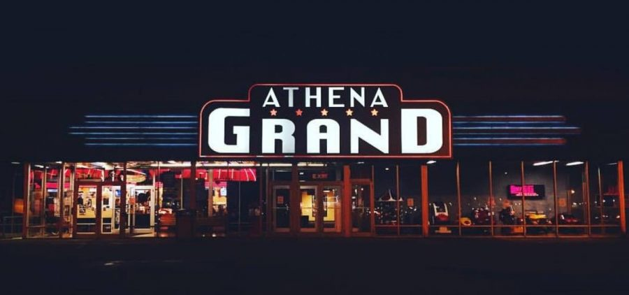 The Athena Grand at night