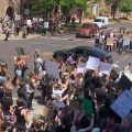 Part of the crowd in Athens for a protest Tuesday, June 2, 2020. This protest was in solidarity with other events across the United States after George Floyd's death in Minneapolis.