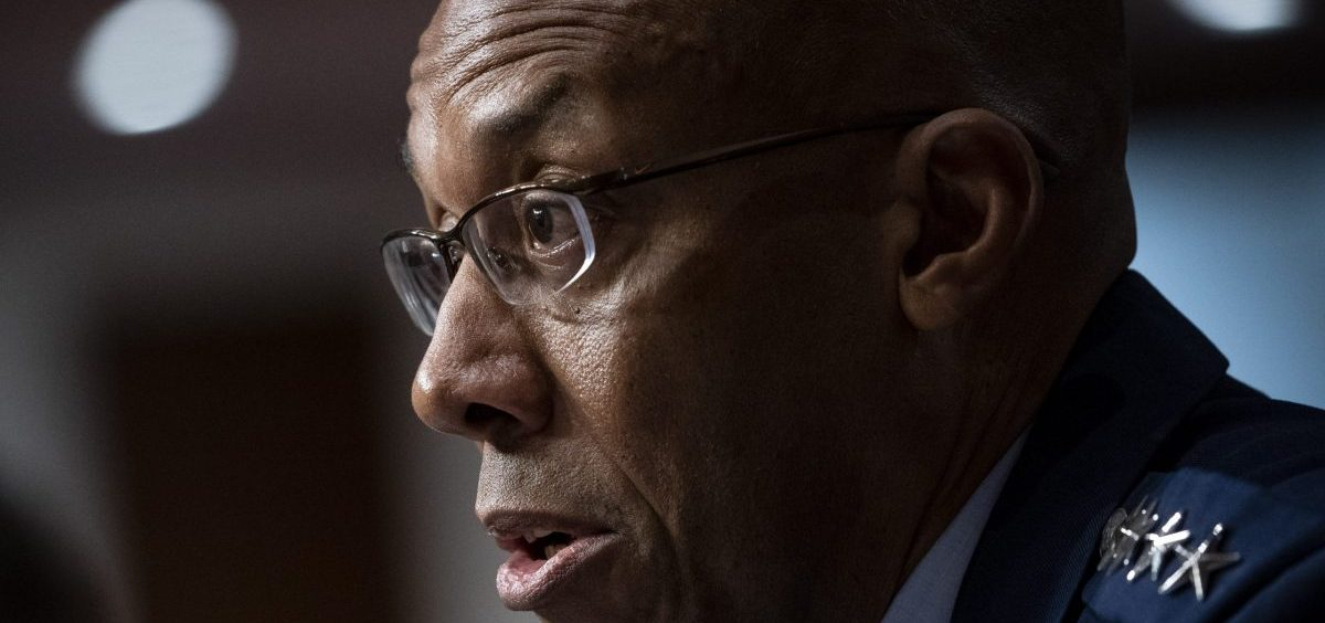 Charles Q. Brown, Jr., was confirmed by the Senate to become Air Force Chief of Staff on Tuesday. He's seen here testifying during his Senate nomination hearing in May.