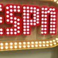 Kim Kanner standing in front of ESPN sign