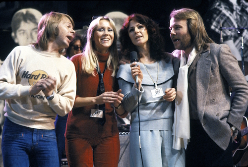 Left to right: ABBA members Björn Ulvaeus, Agnetha Fältskog, Anni-Frid Lyngstad and Benny Andersson.