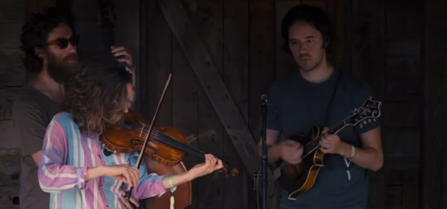 Mandolin Orange playing on Gladden House stage
