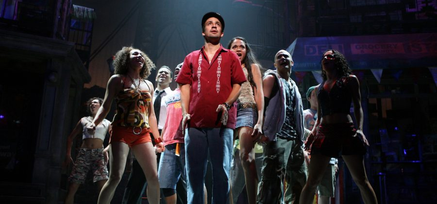 composer-lyricist Lin-Manuel Miranda (center), of the Tony Award-winning In the Heights as they embark on the production of an original musical.