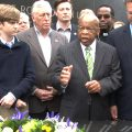 John Lewis at the Civil Rights Memorial in Montgomery, Alabama.