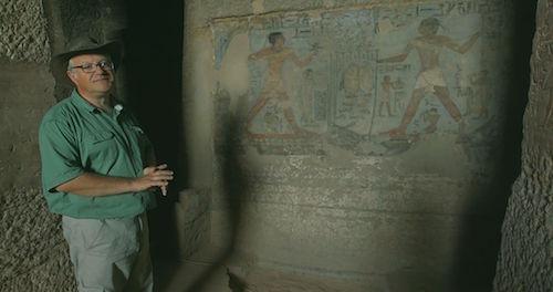 Professor Martin Bommas in Qubbet el Hawa, Egypt.