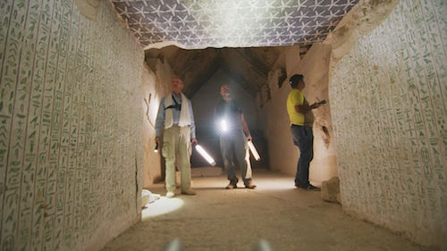 Burial Chamber in Pepi 2 Pyramid in Saqarra, Egypt.
