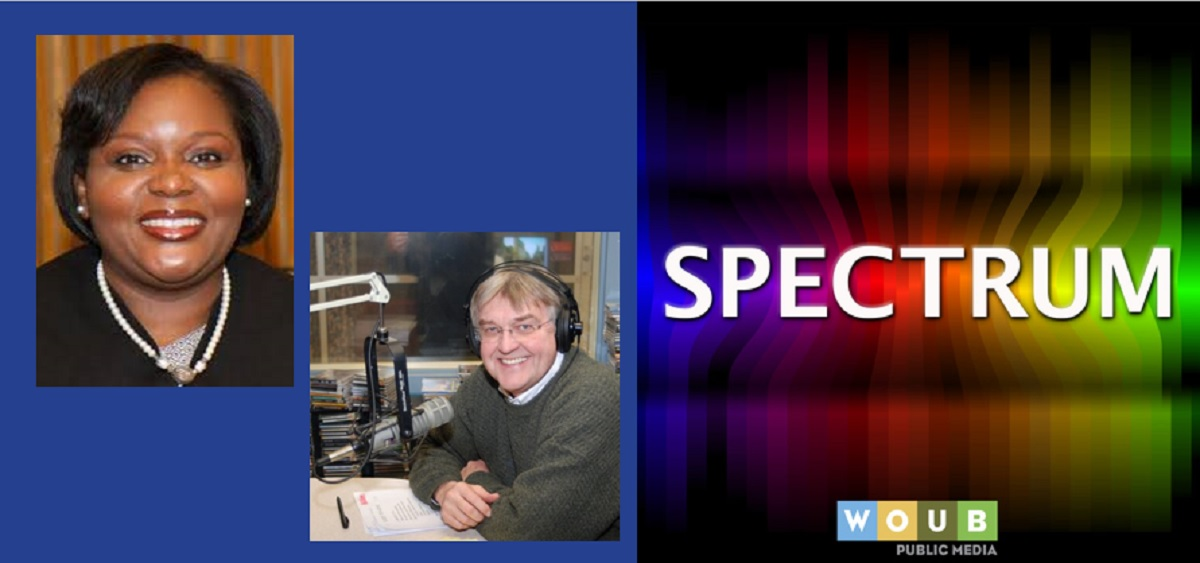 Photos of Judge Byers and Tom Hodson with Spectrum logo