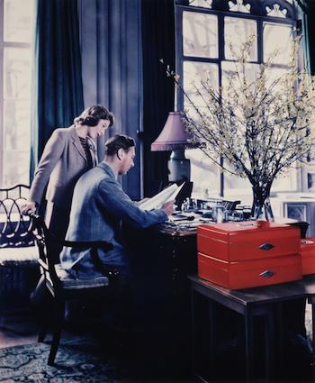 11th April 1942: Princess Elizabeth talking to her father, King George VI