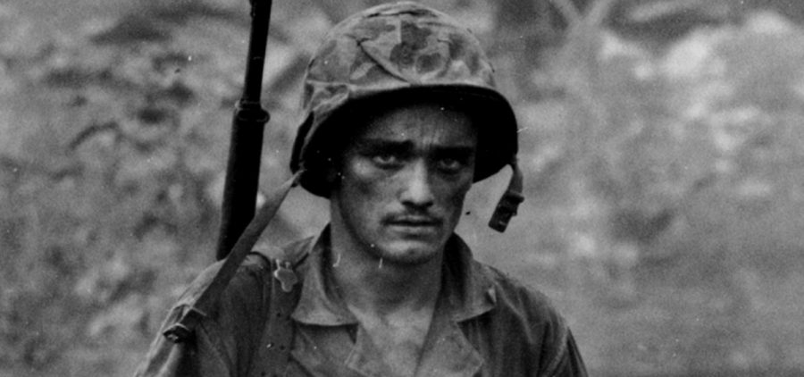 US soldier in Saipan, 1944