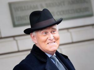 Roger Stone, seen here leaving a federal courthouse earlier this year in Washington, D.C., will not have to serve his three-year prison sentence for lying to Congress, witness tampering and obstruction of justice.