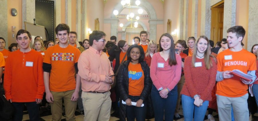 Student activists from around Ohio rallied at the Statehouse against gun laws two years ago, in March 2018.
