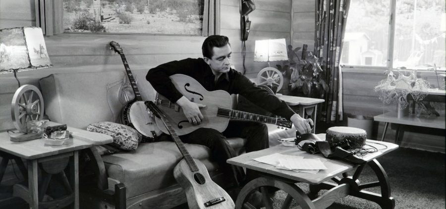 Johnny Cash at his home in California, 1960.