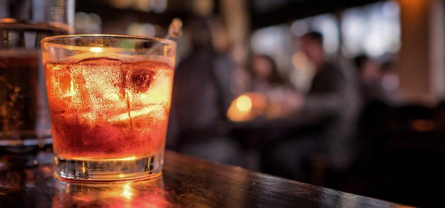 A drink on a bar