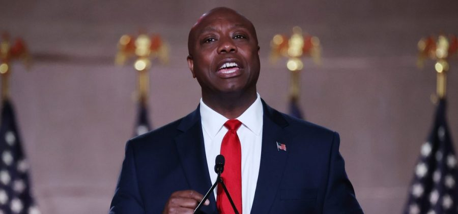 Sen. Tim Scott, R-S.C., gave a policy-driven and hopeful speech at the Republican National Convention on Monday.