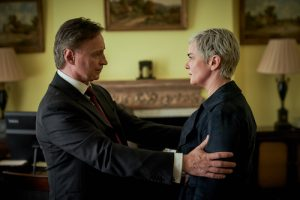Robert Carlyle as Prime Minister Robert Sutherland & Victoria Hamilton as Chief of Staff Anna Marshall