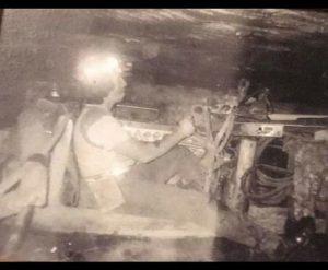 Charles Wayne Stanley at work underground.