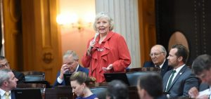 Rep. Grendell addresses the House following her election to the 76th district seat