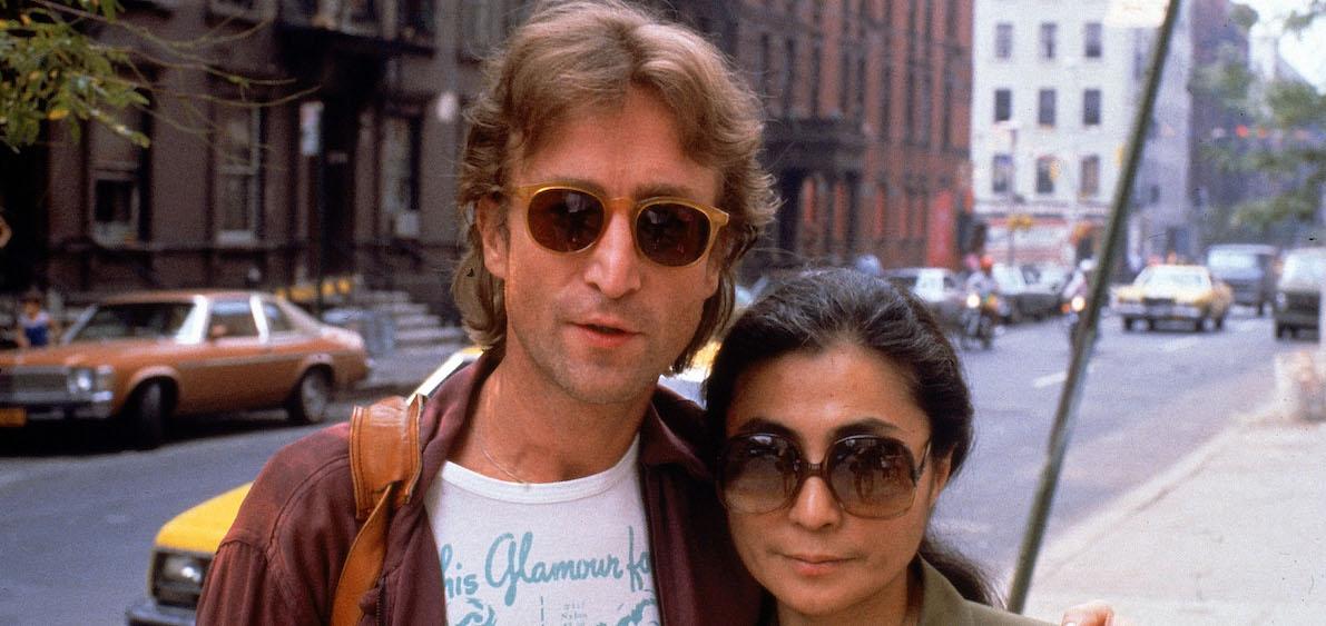 John Lennon and Yoko Ono in New York City.