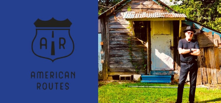 American Routes logo and host