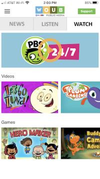 PBS Kids on WOUB App