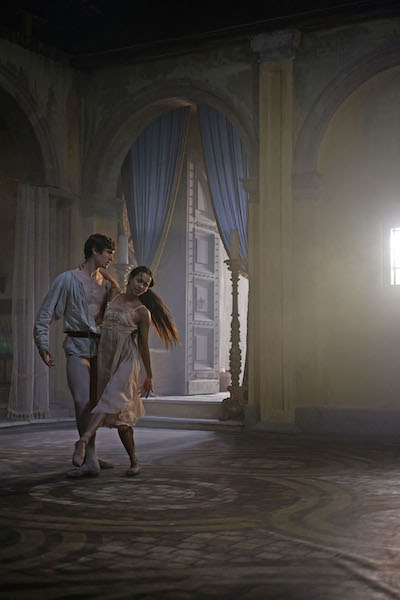 William Bracewell and Francesca Hayward in Romeo and Juliet.