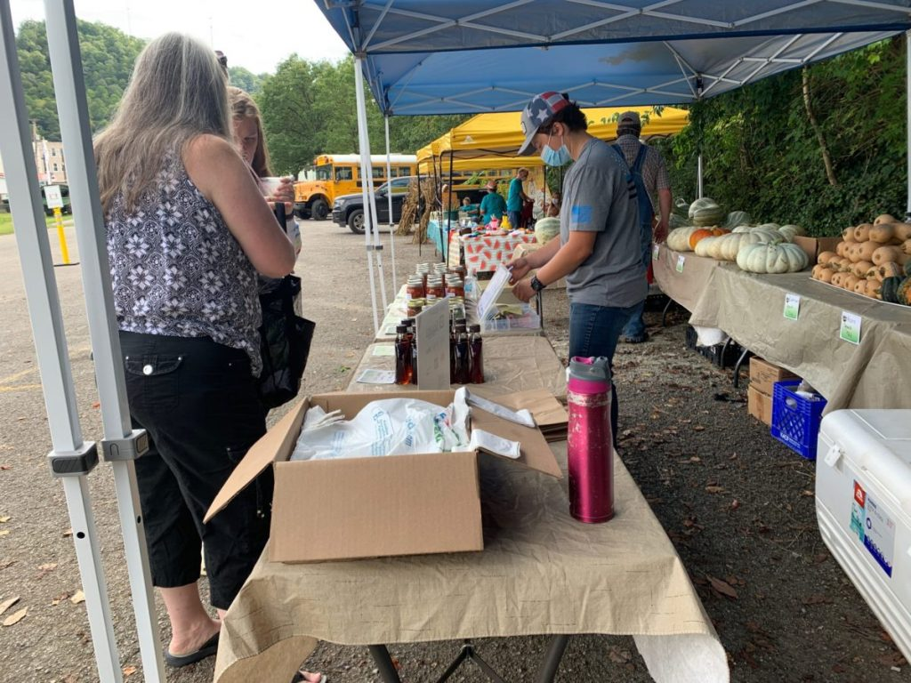 The Letcher County Farmers Market on a September weekend.