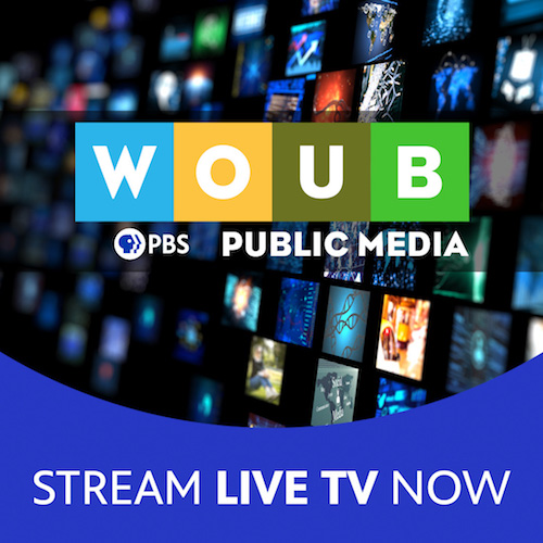 Ad and link for WOUB livestream