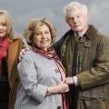 L-R Celia (ANNE REID) Alan (DEREK JACOBI), Gillian (NICOLA WALKER) and Caroline (SARAH LANCASHIRE, at Far Slack Farm