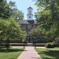 Ohio University's Cutler Hall on the first day of the semester.