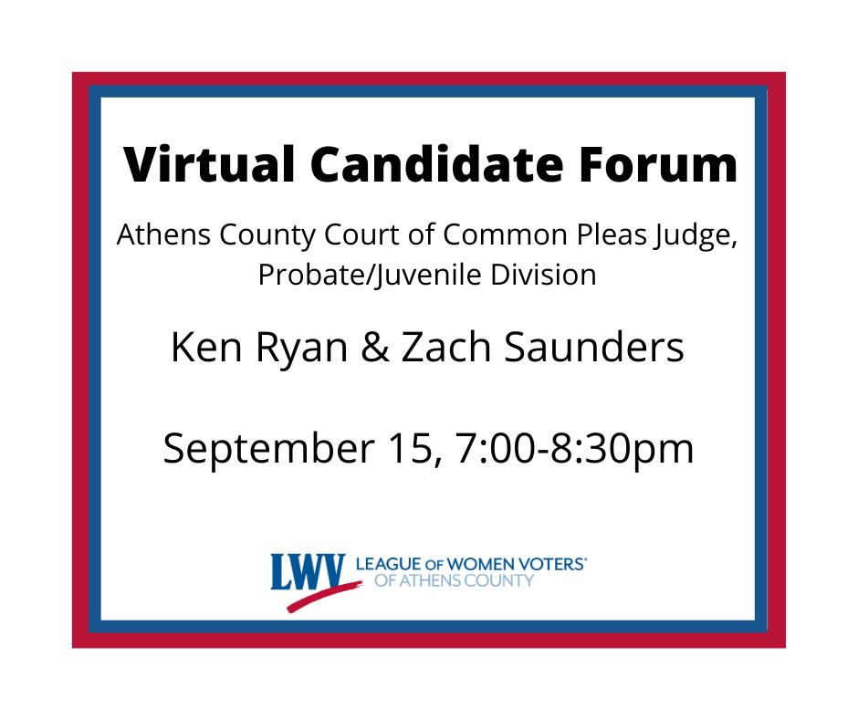 Virtual Candidate Forum