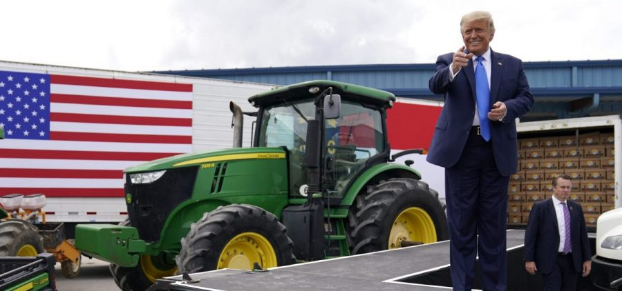 President Trump delivered remarks on the Farmers to Families Food Box Program at Flavor First Growers and Packers last week in Mills River, N.C.