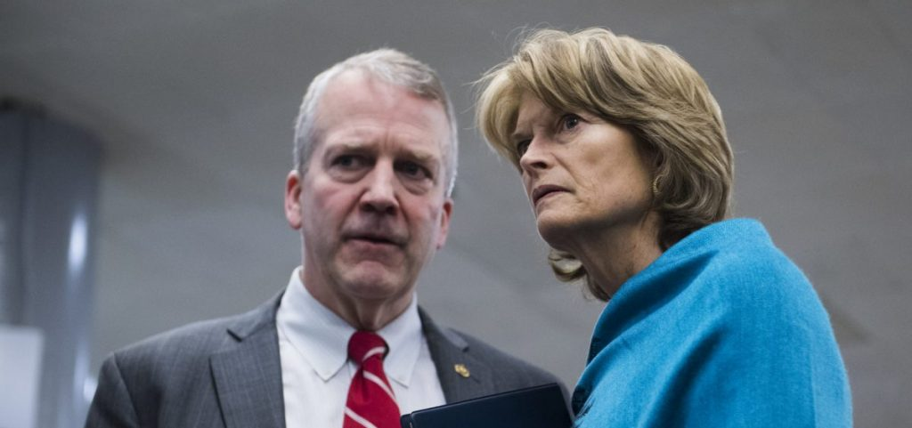 Sens. Dan Sullivan (left) and Lisa Murkowski, both Republicans from Alaska, have joined Sen. Brian Schatz, a Democrat from Hawaii, in introducing a bipartisan bill that would extend reporting deadlines for 2020 census results.