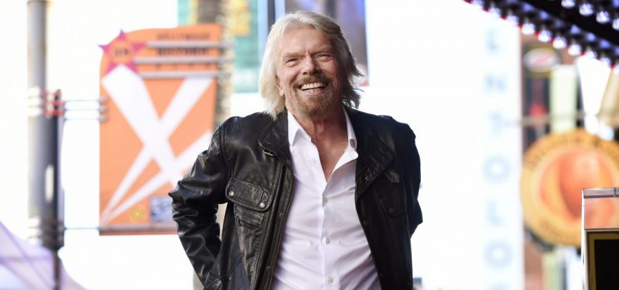 In this Oct. 16, 2018 file photo, Richard Branson appears at a ceremony honoring him with a star on the Hollywood Walk of Fame, in Los Angeles.