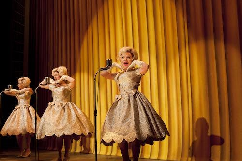 Claire Lams, Jemima Rooper and Suzie Toase in ONE MAN TWO GUVNORS at The National Theatre, 2011