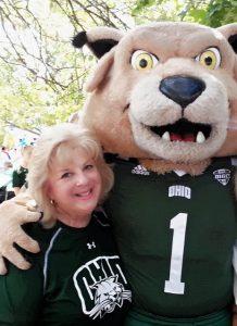 Kathy Malesick with Rufus