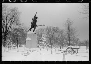 Doughboy Statue in Winter