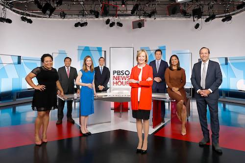 Reporters and anchors from the PBS Newshour