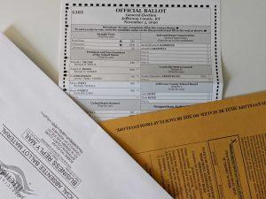 Kentucky mail-in ballot.