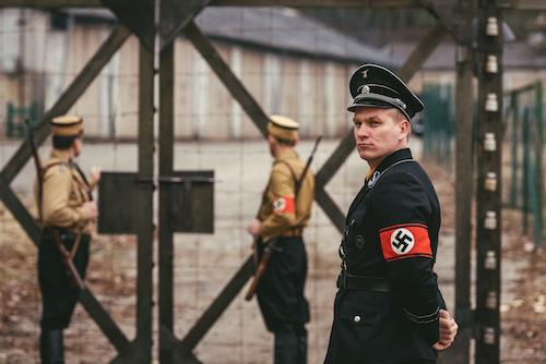 Drama Reconstruction Camp Commandant, Hilmar Wäckele, at Dachau Concentration Camp